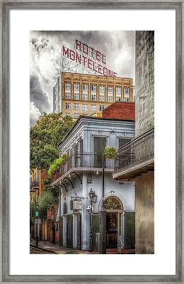 Framed Print featuring the photograph The Old Absinthe House by Susan Rissi Tregoning
