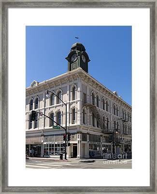 The Old American Trust Company Now The Vintage Bank Antique Petaluma California Usa Dsc3743 Framed Print by Wingsdomain Art and Photography