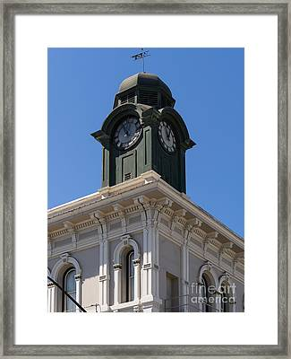 The Old American Trust Company Now The Vintage Bank Antique Petaluma California Usa Dsc3744 Framed Print by Wingsdomain Art and Photography