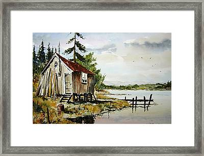 The Old Bait Store Framed Print by Wilfred McOstrich