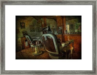 The Old Barbershop - Vintage - Nostalgia Framed Print by Lee Dos Santos