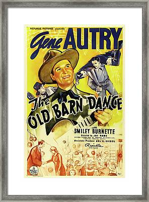 The Old Barn Dance 1938 Framed Print