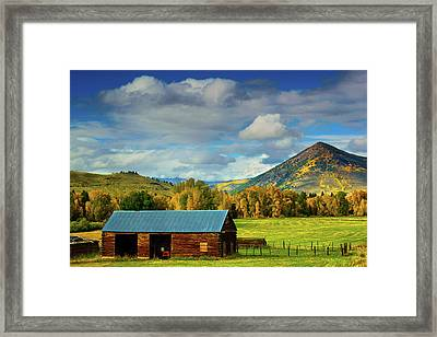 The Old Barn Framed Print by John De Bord