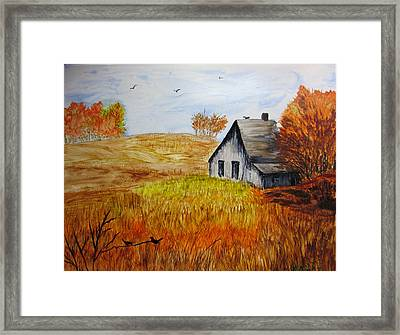The Old Barn Framed Print by Maris Sherwood