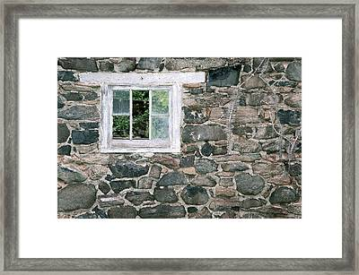 The Old Barn Window Framed Print