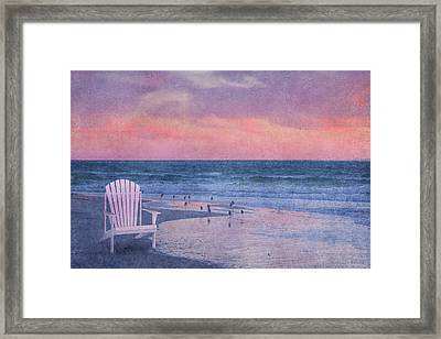 The Old Beach Chair Framed Print by Betsy Knapp