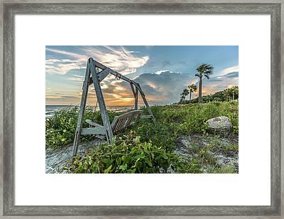 The Old Beach Swing -  Sullivan's Island, Sc Framed Print