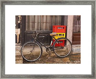 The Old Bicycle Framed Print by Rae Tucker