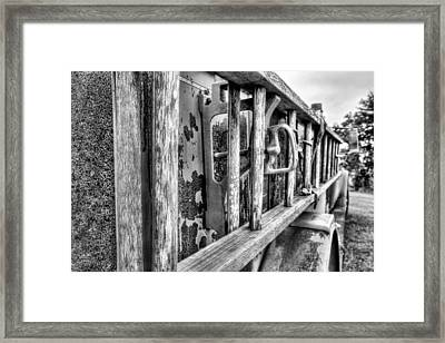 The Old Black And White Firetruck Framed Print by JC Findley