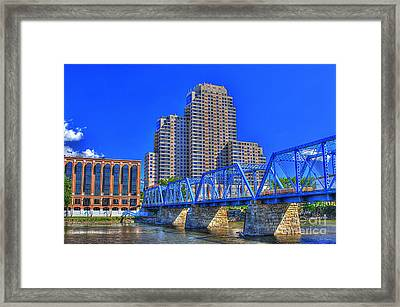 The Old Blue Bridge Framed Print