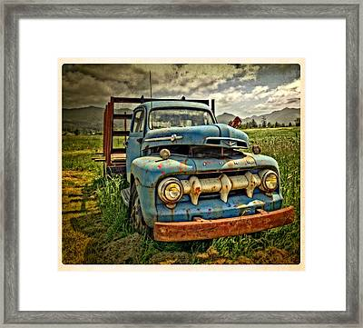 The Blue Classic 48 To 52 Ford Truck Framed Print