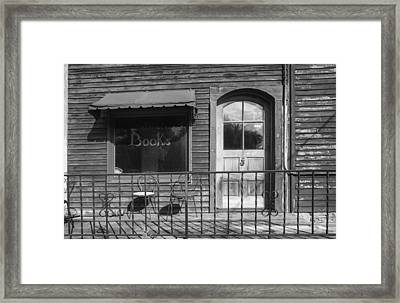 The Old Book Store Framed Print by Jeff Klingler