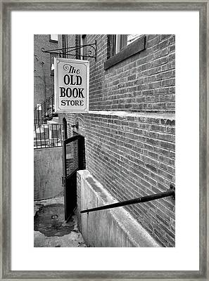Framed Print featuring the photograph The Old Book Store by Karol Livote