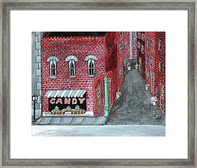 The Old Brick Candy Store Framed Print by Gordon Wendling