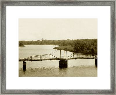 The Old Bridge Framed Print by Debbie May