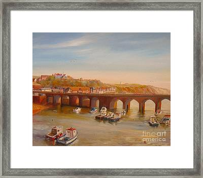 The Old Bridge - Folkestone Harbour Framed Print