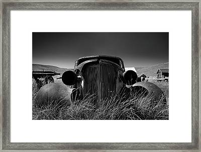 The Old Buick Framed Print