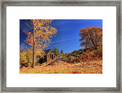 The Old Bunkhouse Landscape Framed Print by James Eddy