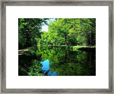 The Old Canal ... Framed Print