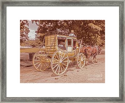 The Old Carriage Framed Print by Claudia M Photography