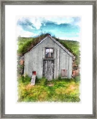 The Old Chicken Coop Iceland Turf Barn Framed Print