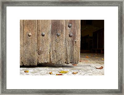 The Old Church Door Framed Print by Olivier Le Queinec