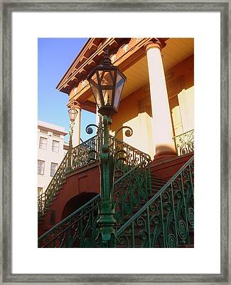 The Old City Market In Charleston Sc Framed Print by Susanne Van Hulst