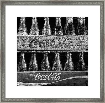 The Old Coke Stack In Black And White Framed Print