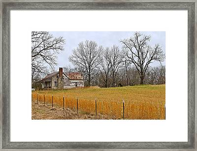Framed Print featuring the photograph The Old Country Home by Ron Dubin