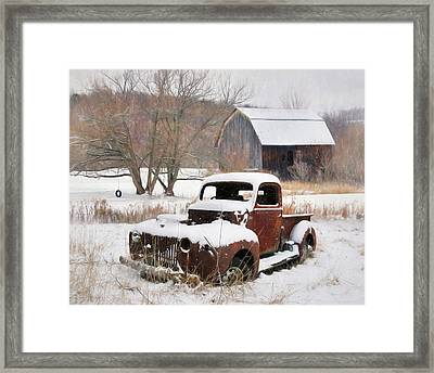 The Old Lawn Ornament Framed Print