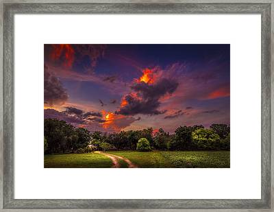 The Old Country Road Framed Print