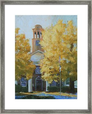 The Old Courthouse, 9am Framed Print by Carol Strickland