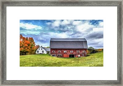 The Old Dairy Barn Etna New Hampshire Framed Print