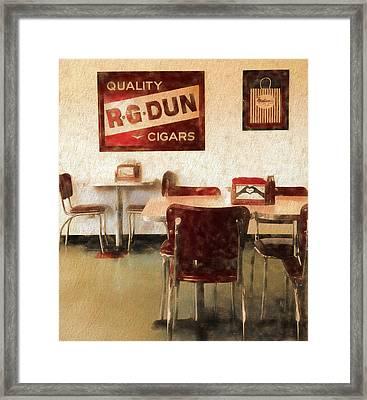 The Old Diner Framed Print