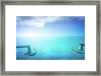 The Old Draw Bridge Framed Print