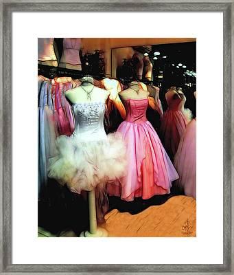 The Old Dress  Shop Framed Print