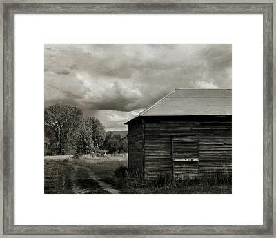 The Old Farm Bw Framed Print