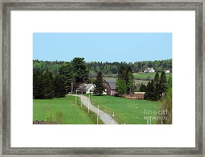 The Old Farm Down The Road Framed Print by William Tasker