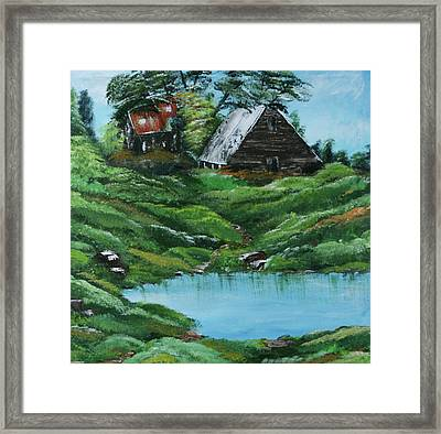 The Old Farm Framed Print by Robin Lee