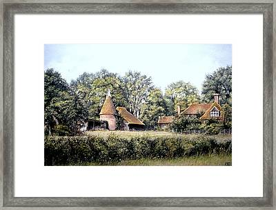 Framed Print featuring the painting The Old Farm by Rosemary Colyer
