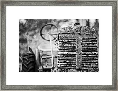 The Old Farm Tractor Framed Print
