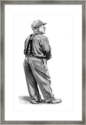 The Old Farmer Framed Print by Joyce Geleynse