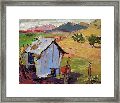 The Old Feed Shed Framed Print