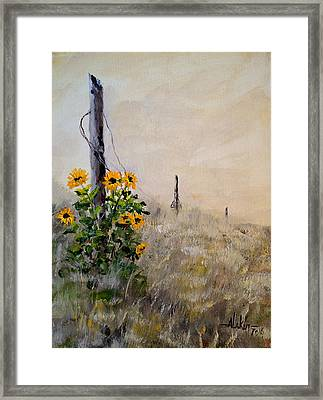 The Old Fence Framed Print by Alan Lakin