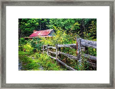 The Old Fence Framed Print by Debra and Dave Vanderlaan