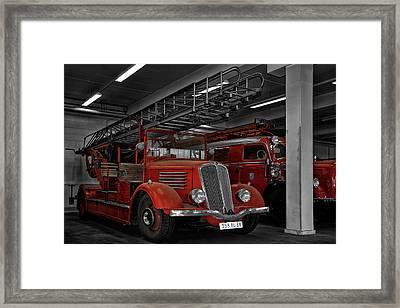 The Old Fire Trucks Framed Print