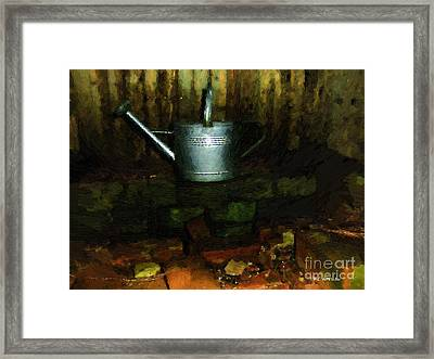 The Old Firepit Framed Print