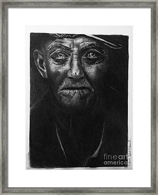 The Old Fisherman And The Sea Framed Print