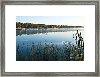 Framed Print featuring the photograph The Old Fishing Pier by Tamyra Ayles