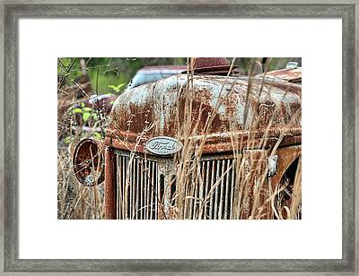 The Old Ford Tractor Framed Print by JC Findley